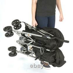Twin Lightweight Double Glenbarr Grey Toddler Baby Stroller Outdoor Carrier Seat