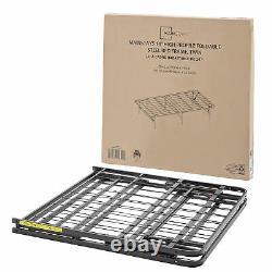 Twin Size Bed Frame Metal Platform Heavy Duty Mattress Foundation Folding Base