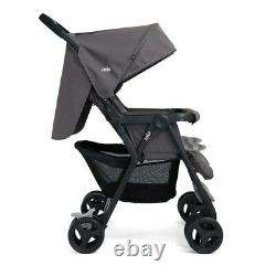 Twin Stroller Double Buggy Twins Baby Pushchair Joie Aire Adjustable Pram Grey