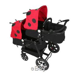Twins Baby Stroller Portable Carriage Double Lightweight travel system pushchair