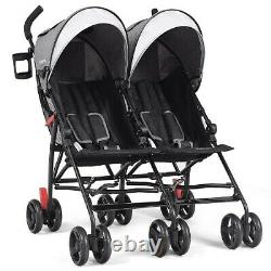Two Seat Double Twin Baby Stroller Wagon Car Umbrella Kid Child Travel Stroller