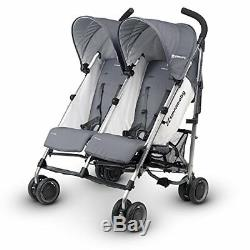 UPPAbaby G-Link Pascal Double Twin Stroller Grey / Silver