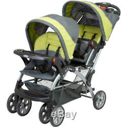 Umbrella Baby Stroller Double Twin Sit n Stand Kids Tandem Pushchair Travel Gray