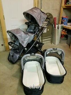 Uppababy Vista Double Stroller Twin Package