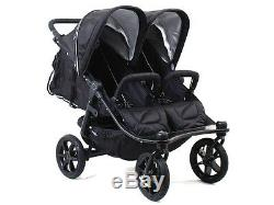 Valco 2016 TriMode Twin-X Duo Double Stroller in Midnight (Black) New! Open Box