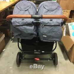 Valco Baby 2019 Snap Duo Trend Twin Double Stroller 2 Seats Folding in Denim