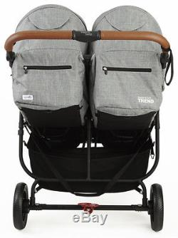 Valco Baby Snap Duo Trend Lightweight Twin Baby Double Stroller 2018 Grey Marle