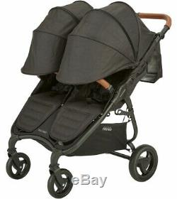 Valco Baby Snap Duo Trend Lightweight Twin Baby Double Stroller Night Black