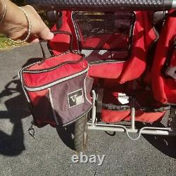 Valco Baby Twin Tri Mode Duo X Double Triple Stroller with Toddler Seat