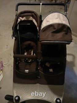 Valco Baby Twin Tri-Mode Stroller Ex Hot Chocolate TRU1054