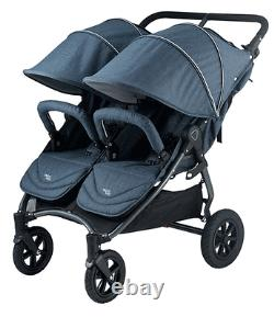 Valco NEO Twin Stroller in Denim Tailormade Fabric Brand New! Open Box