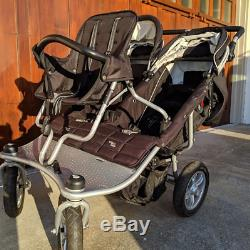 Valco Tri Mode Twin Baby Triple Stroller with Removable Toddler Seat