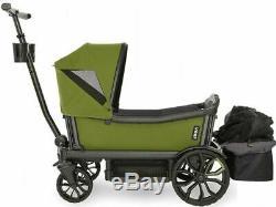 Veer All Terrain Cruiser Twin Kids Double Stroller Wagon Joshua Green NEW