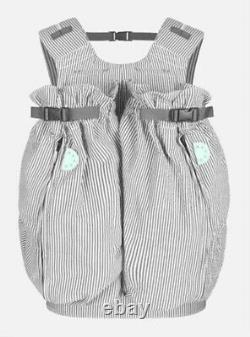 Weego Twin Double Baby Carrier Gray/White Pin Stripe