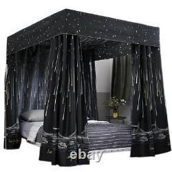 Windproof Lightproof Anti-Glare 4 Four Corner Bed Curtain Canopy Mosquito Net