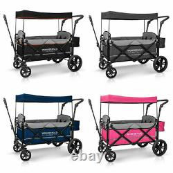 WonderFold Baby XL 2 Passenger Push Pull Twin Double Stroller Wagon