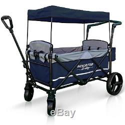 XL 2 Passenger Push Pull Twin Double Stroller Wagon with Canopy, Safety Seats