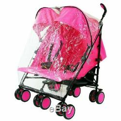 Zeta Citi TWIN Stroller Buggy Pushchair Raspberry Pink Double Stroller