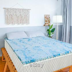 2,5 / 3/4 Pouces Memory Gel Mousse Surmatelas Bleu Lavande Swirl Reine Roi Double