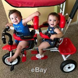 4 En 1 Jumeaux Enfants Bébé Sécurité Poussette Double Siège Pivotable Livraison Rapide Gratuite