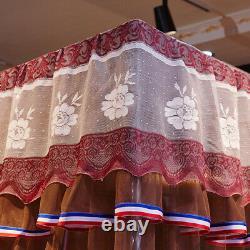 4 Post Fonctionnelle Moustiquaire De Canopée De Lit Twin Queen California King+frame Post