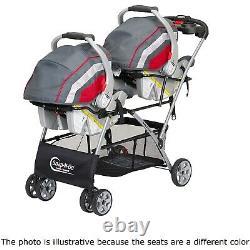 Baby Double Poussette Frame Avec 2 Sièges Et Bases De Voiture Twins Combo Nursery Sac De Berceau