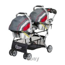 Baby Infant Universal Car Seat Stroller Twin Double Caddy Frame Travel System