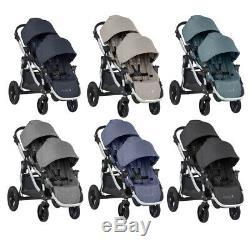 Baby Jogger 2019 City Select Double Twin Tandem Poussette Avec Second Seat Nouveau