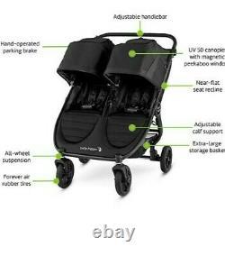 Baby Jogger 2020 City Mini Gt2 Double Poussette Tout Terrain Expédié Gratuit