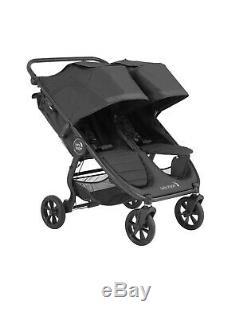 Baby Jogger 2020 City Mini Gt 2 Double Poussette Jet Nouveau! Jumeau Noir