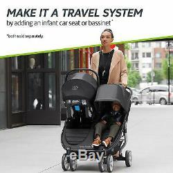 Baby Jogger City Mini 2 Twin Double Poussette Carbon New 2020