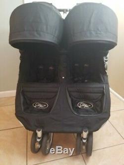 Baby Jogger City Mini Double Standard Double Twin Seat Poussette, Noir