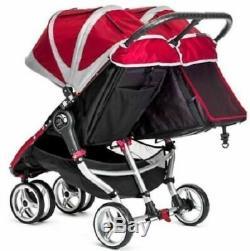 Baby Jogger City Mini Double Twin Poussette Noir / Gris Nouveau