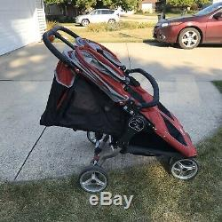 Baby Jogger City Mini Double Twin Side-by-side Poussette Rouge / Gris