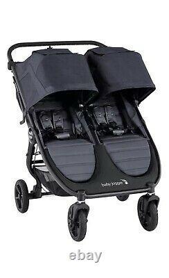 Baby Jogger City Mini Gt2 Twin Baby Double Poussette Carbone Nouveau Dans La Boîte 2020