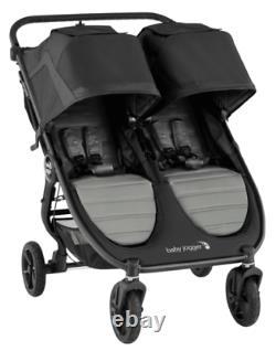 Baby Jogger City Mini Gt2 Twin Baby Double Poussette Slate Nouveau Dans La Boîte 2020