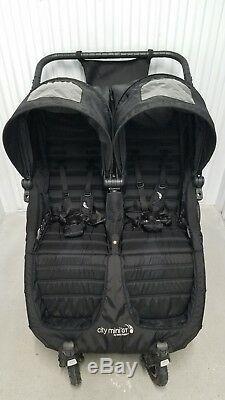 Baby Jogger City Mini Gt Double Double Twin Tout Terrain En Noir Avec Accessoire