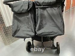 Baby Jogger City Mini Gt Double Poussette Double Poussette En Noir W Raincover