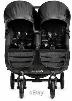 Baby Jogger City Mini Gt Double Poussette Double Tout Terrain Anthracite Nouveau