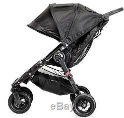 Baby Jogger City Mini Gt Double Poussette Tout Terrain Double Acier Gris Nouveau