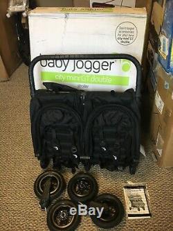 Baby Jogger City Mini Gt Double Poussette Tout Terrain Noire
