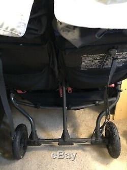 Baby Jogger City Mini Gt Double Poussette Tout Terrain Teal Gris