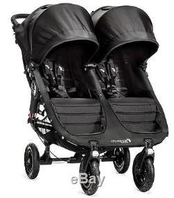 Baby Jogger City Mini Gt Double Poussette Tout-terrain Double Noir Nouveau