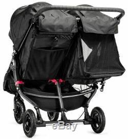 Baby Jogger City Mini Gt Double Twin All Terrain Poussette Noir Nouveau 2019