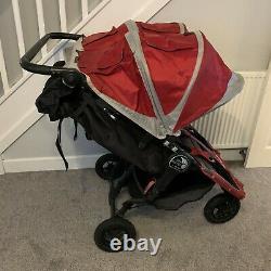 Baby Jogger City Mini Gt Double / Twin Crimson Red Poussette / Poussette