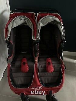 Baby Jogger City Mini Gt Twin / Double Crimson / Poussette Rouge / Puschair