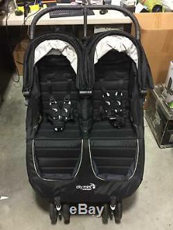 Baby Jogger City Mini Twin Double Strapontin Poussette Bébé En Noir