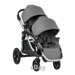 Baby Jogger City Select Double Tandem Poussette Double Avec Second Seat Slate 2019