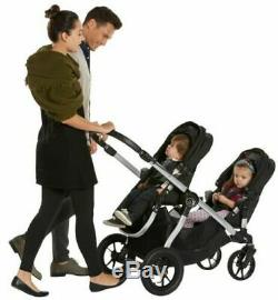 Baby Jogger City Select Double Tandem Poussette Double Rouge Avec Second Seat Nouveau