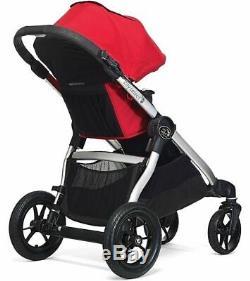 Baby Jogger City Select Double Tandem Poussette Double Ruby W Second Seat Nouveau